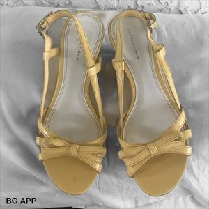 Prediction  yellow wedge shoes